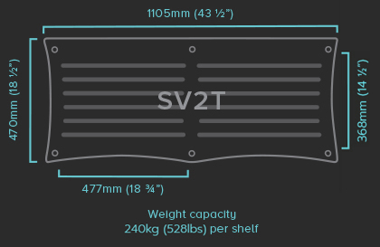 SV2T Shelf Specifications