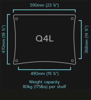 Q4 Large HiFi Rack Specifications