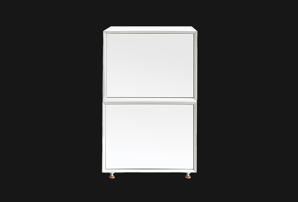 QMS Cabinet : White with White Doors