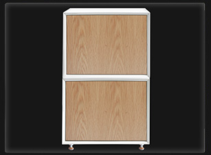QMS cabinet, Oak with White doors