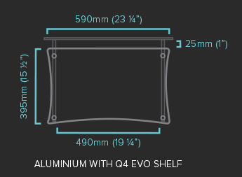 Aluminium with Q4 EVO Shelf Specification